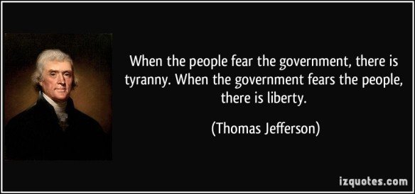 when the people fear the govt